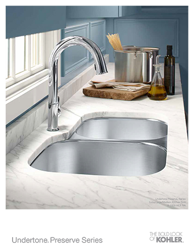 [Undertone® Preserve Series Kitchen Sinks Sell Sheet]
