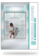 Ensemble shower & Freestanding seat